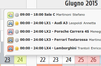 Screenshot Dettaglio Vista Calendario